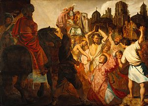 rembrand the stoning of saint stephen