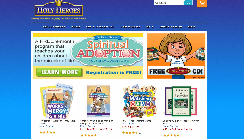 Holy Heroes Website