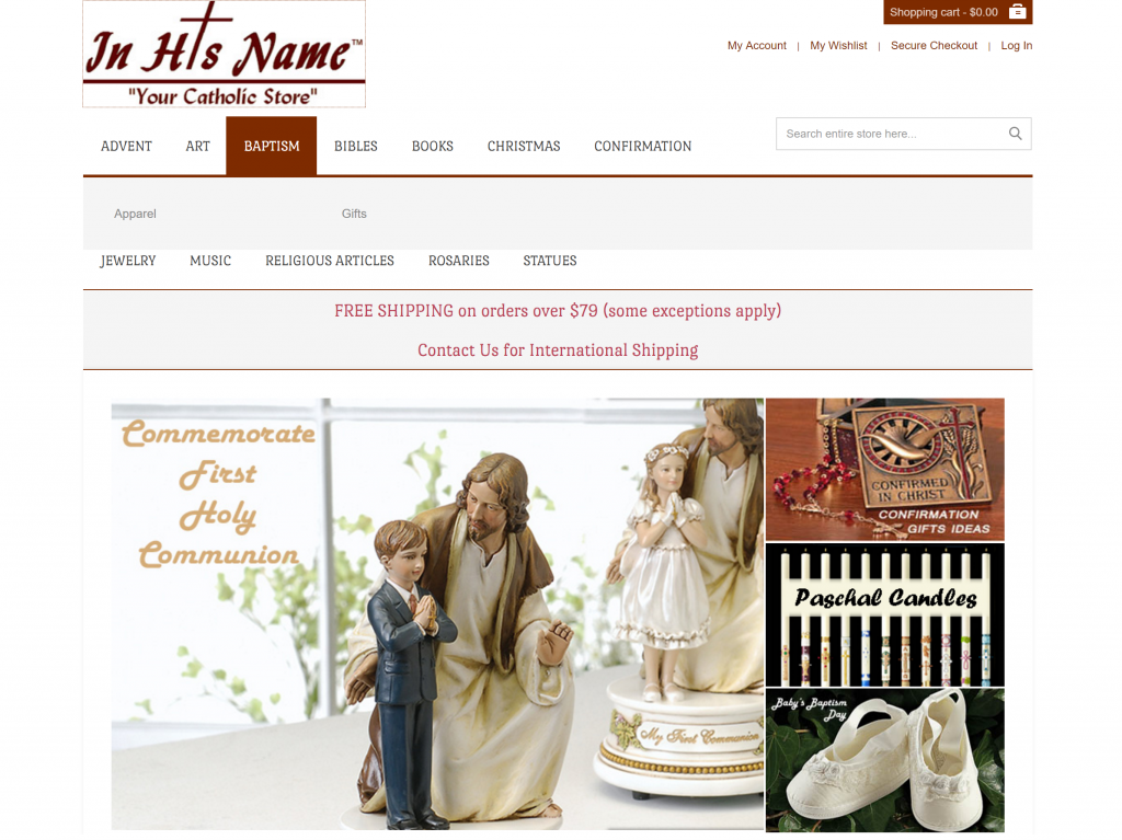 In His Name - Your Catholic Store