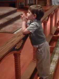 boy altar rail