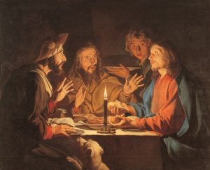 Supper at Emmaus by Matthias Stom