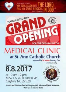 Grand Opening Medical Clinic St. Ann Catholic Church