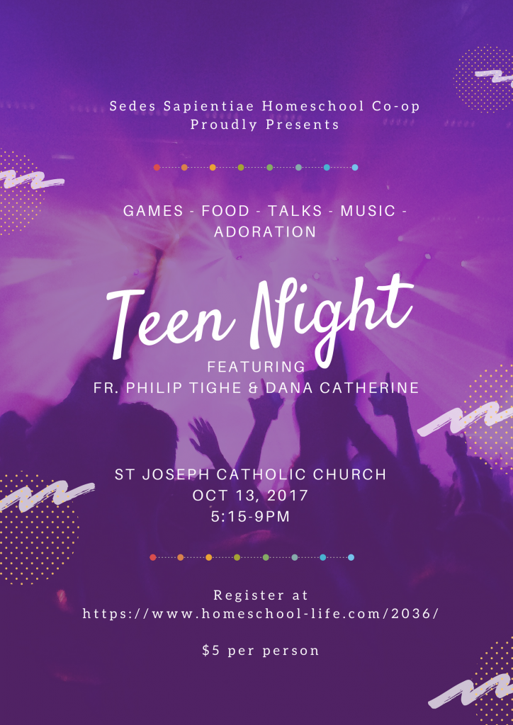 Teen Night with Father Tighe and Dana Catherine